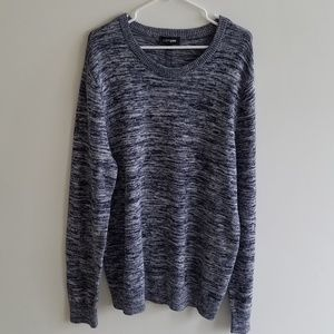NWT Express Blue and White Noise Sweater